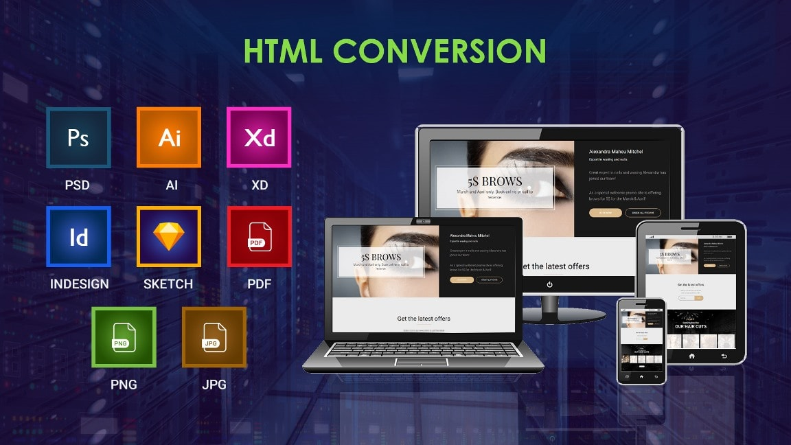 Convert Psd Png Jpg Or Pdf To Responsive Html Webpage By Coder426