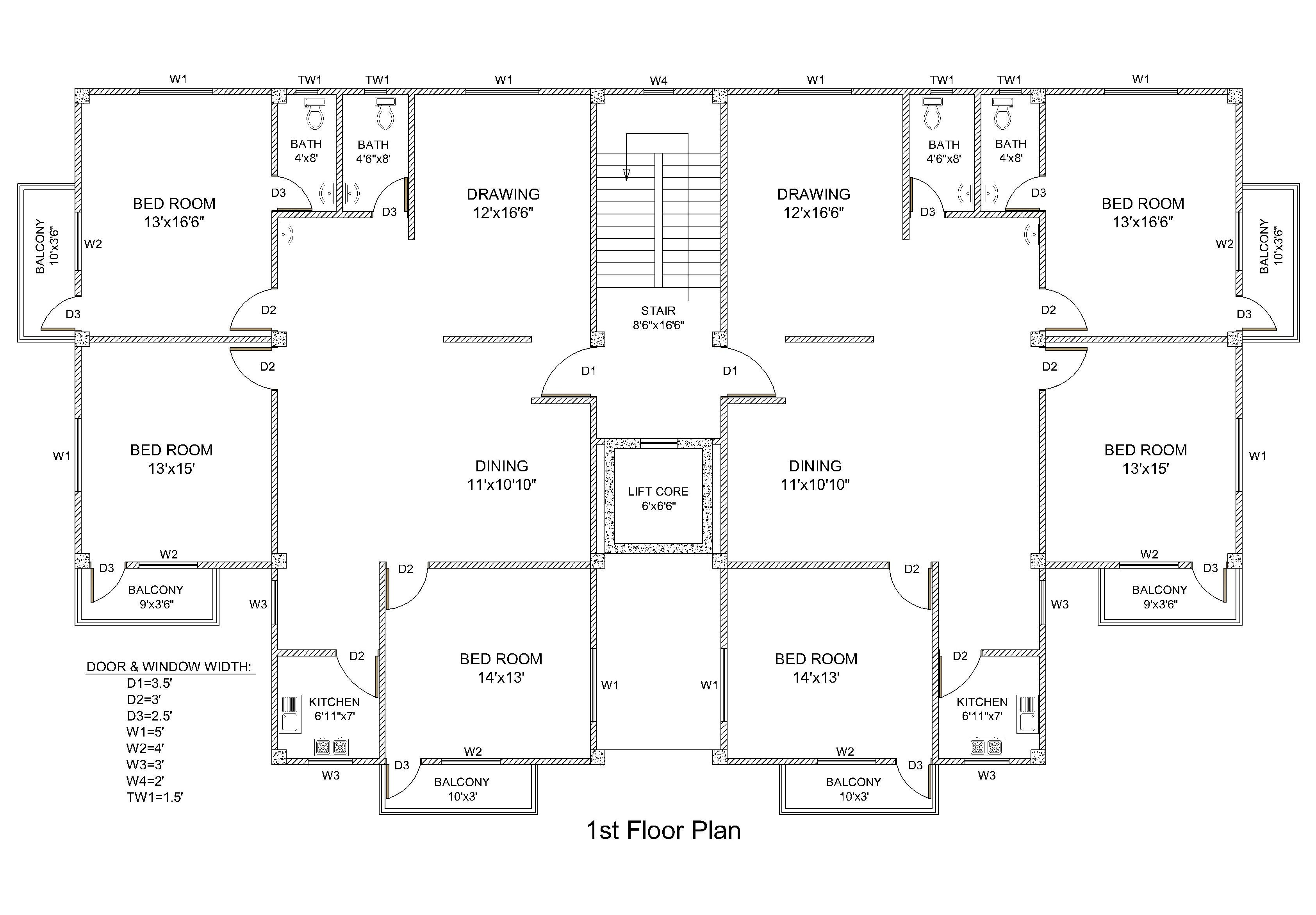 Draw floor plans, any structure