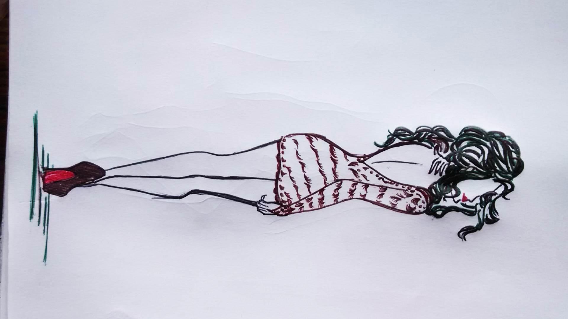 Draw Female Models Sketches By Akshu211997