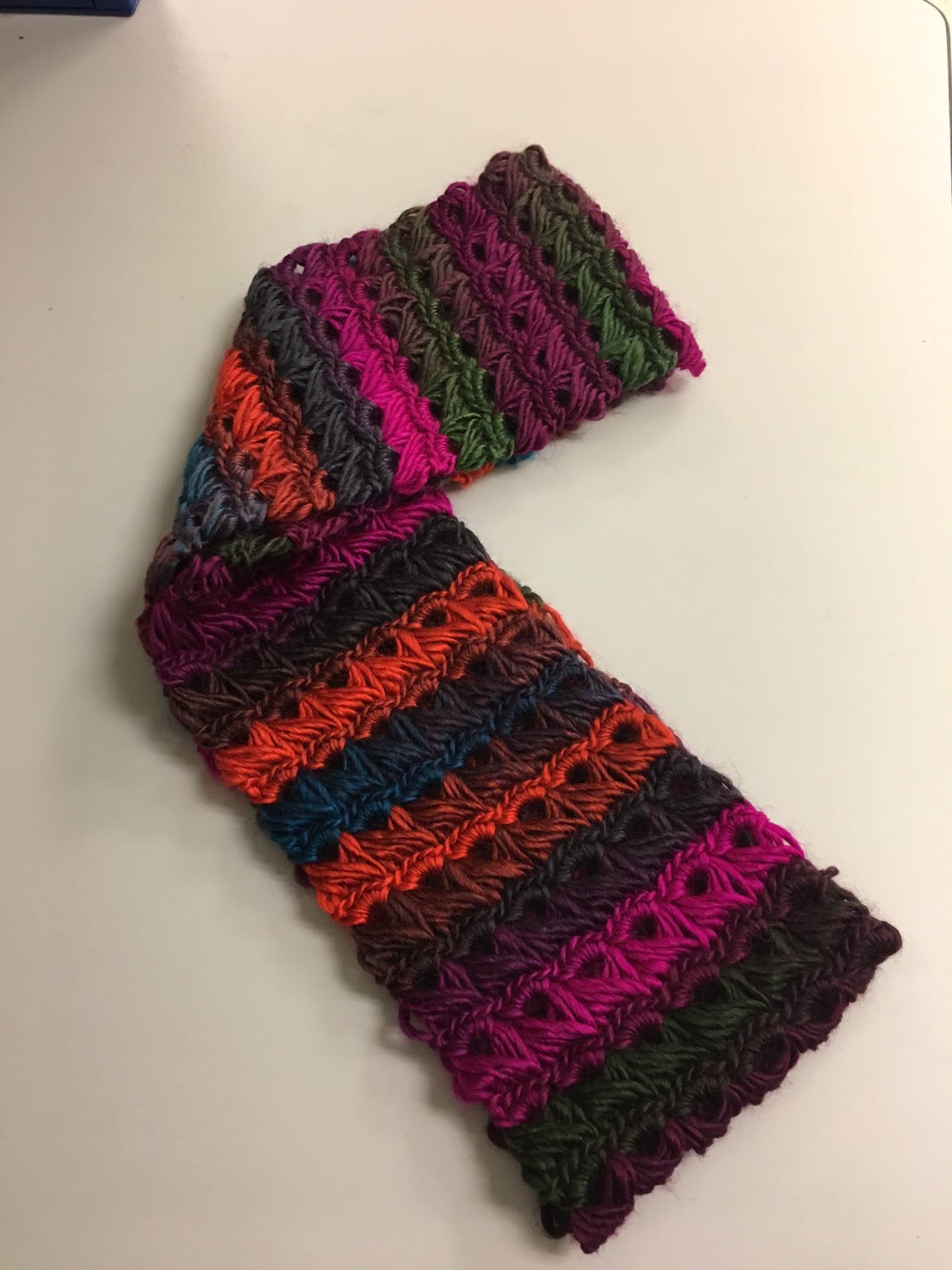 Crochet A Broomstick Lace Infinity Scarf By Mustangsaguaro