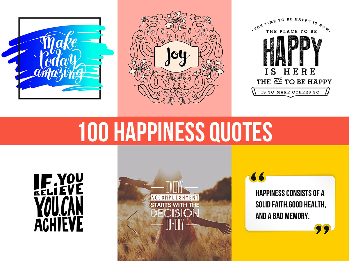 Create 100 Happiness Quotes With Your Website Link By Saifsaif