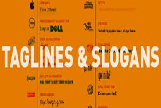Write 11 Nice Business Name Taglines Slogan For Your Company By Articleelite2