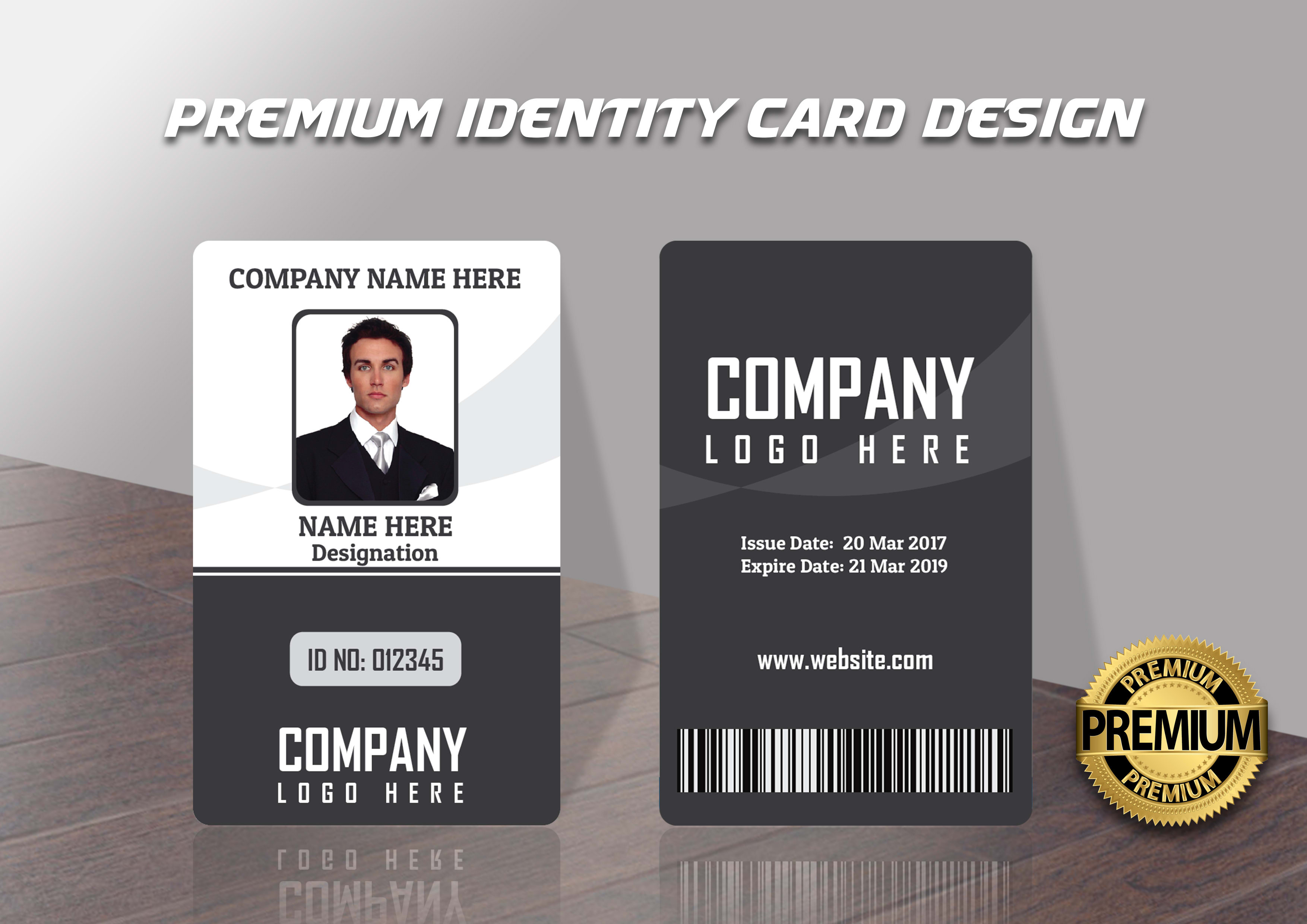 Design premium quality modern and unique id cards, templates by