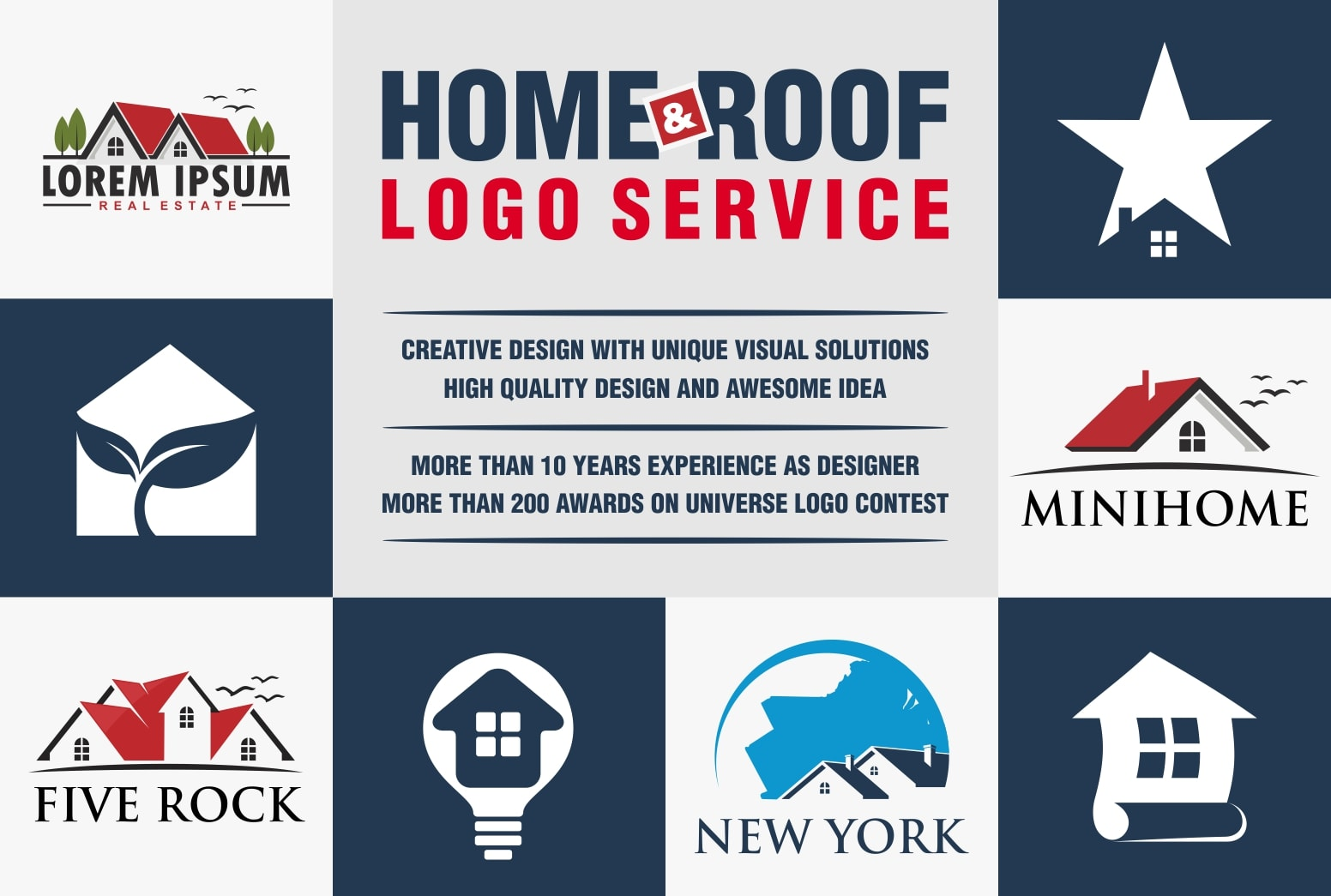 Designing Creative Logo Of Roof And Home By Fandoank