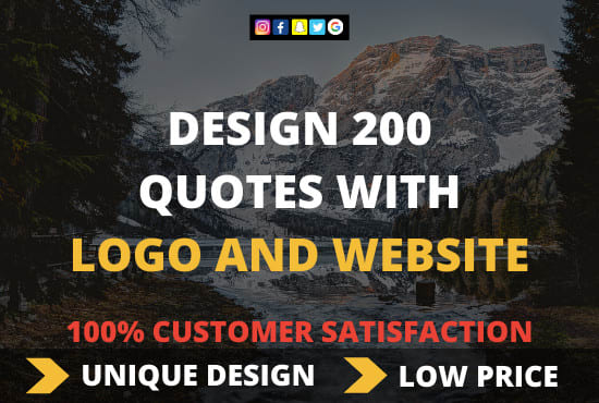 Design 200 Image Quotes With Logo And Website By Dhruvagrawal201