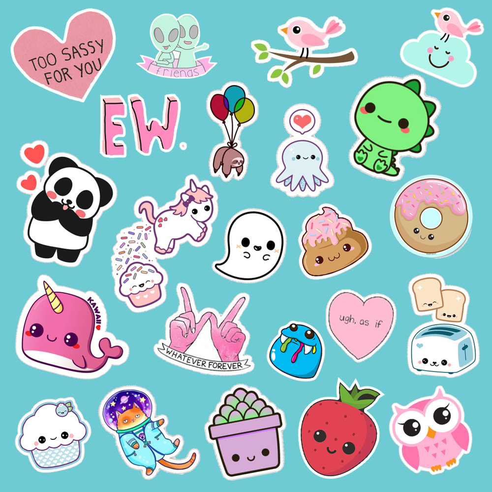 I will create cute stickers for you