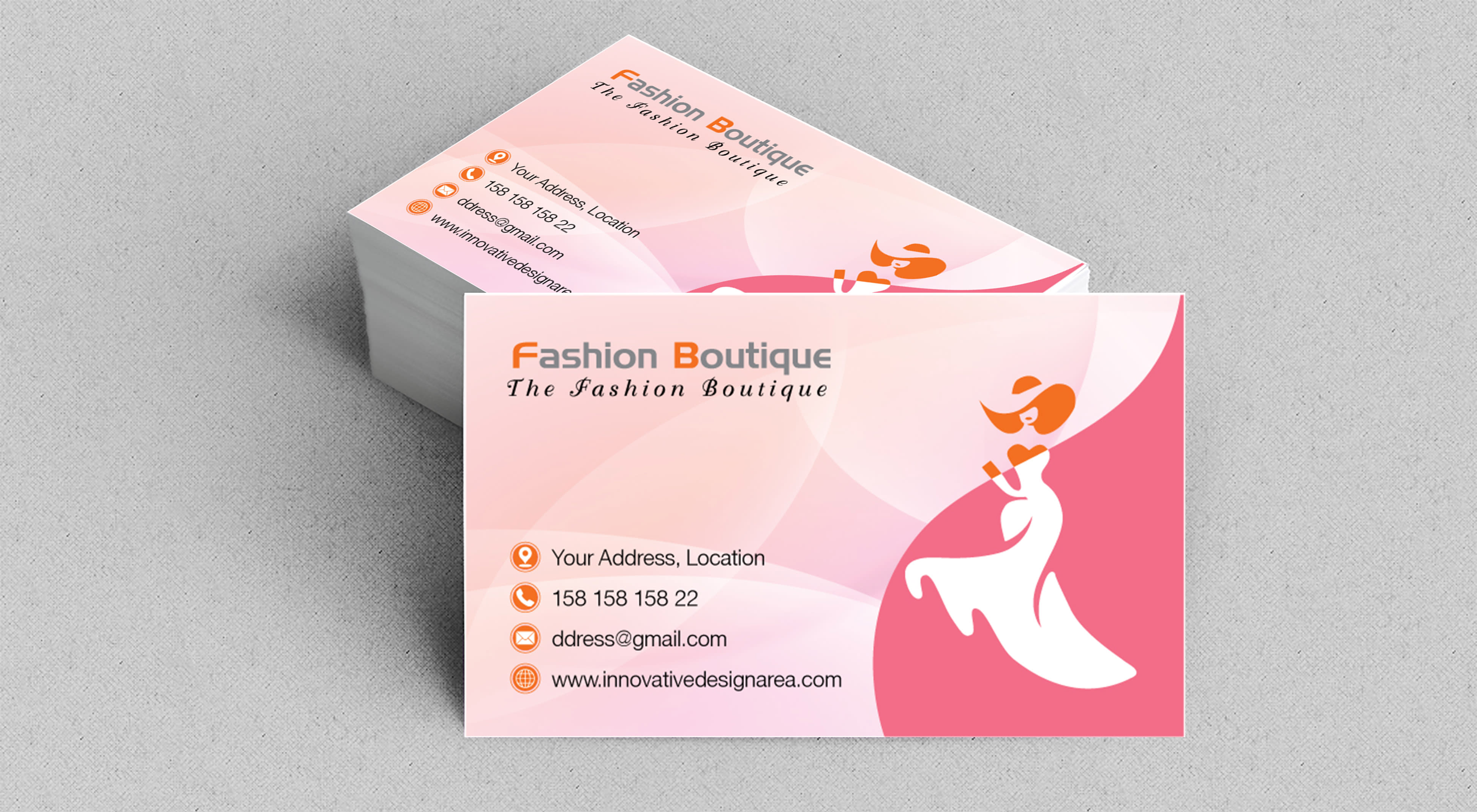Business Card Three Design With One Theme By Designareabd