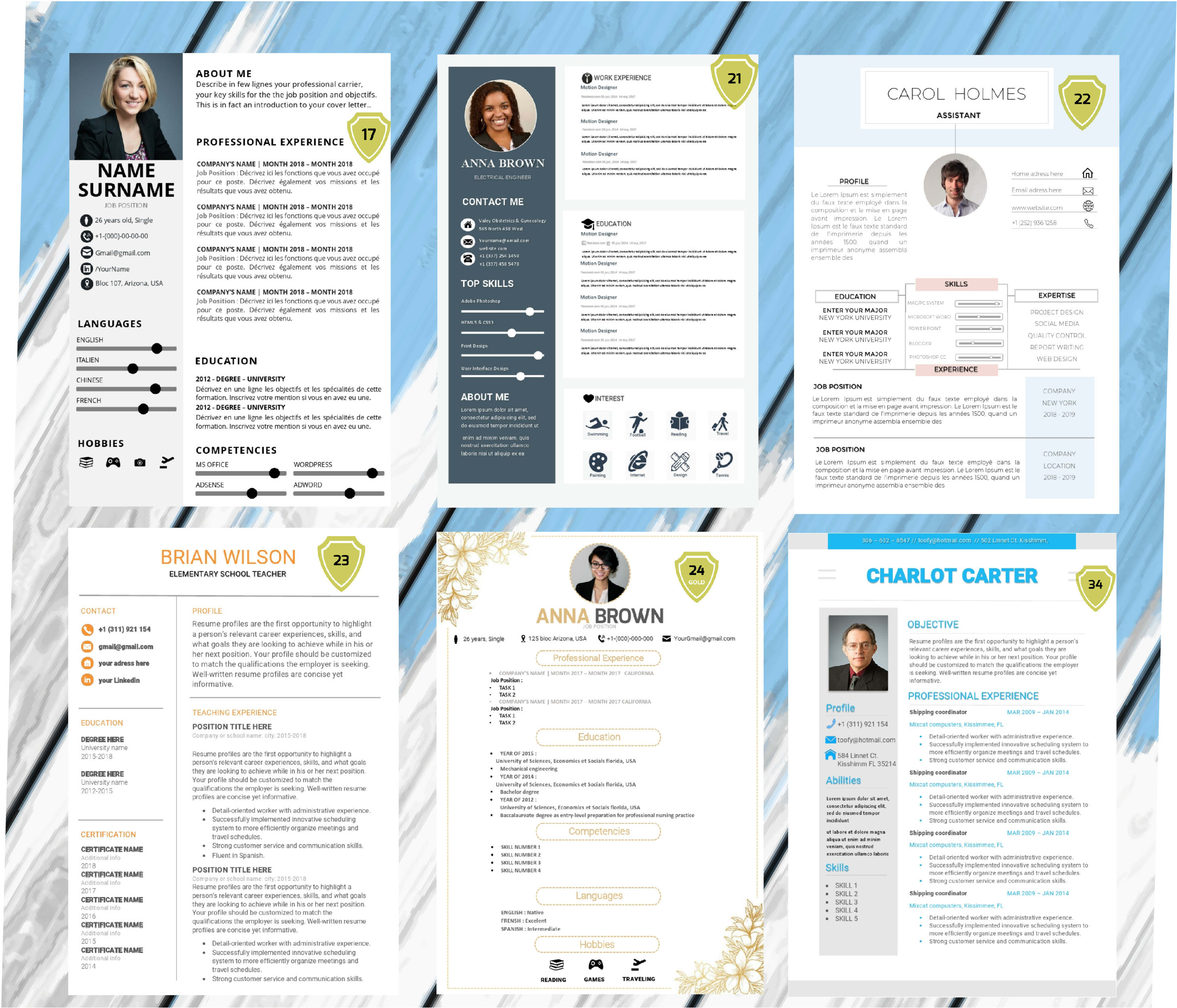 give you 15 fancy resume templates