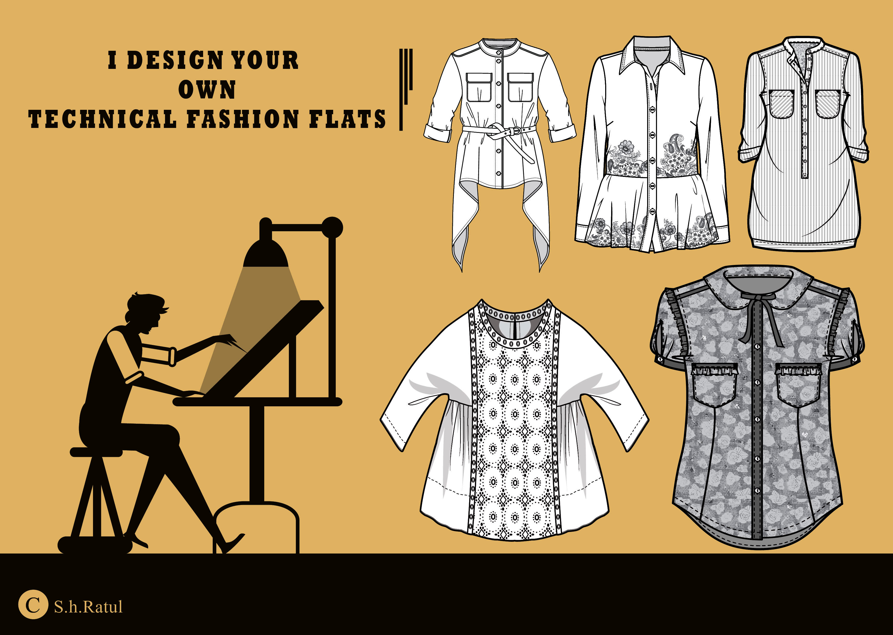 Create Your Own Technical Fashion Design Within 24hrs By Latura