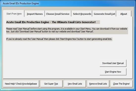 acute email ids production engine crack free download