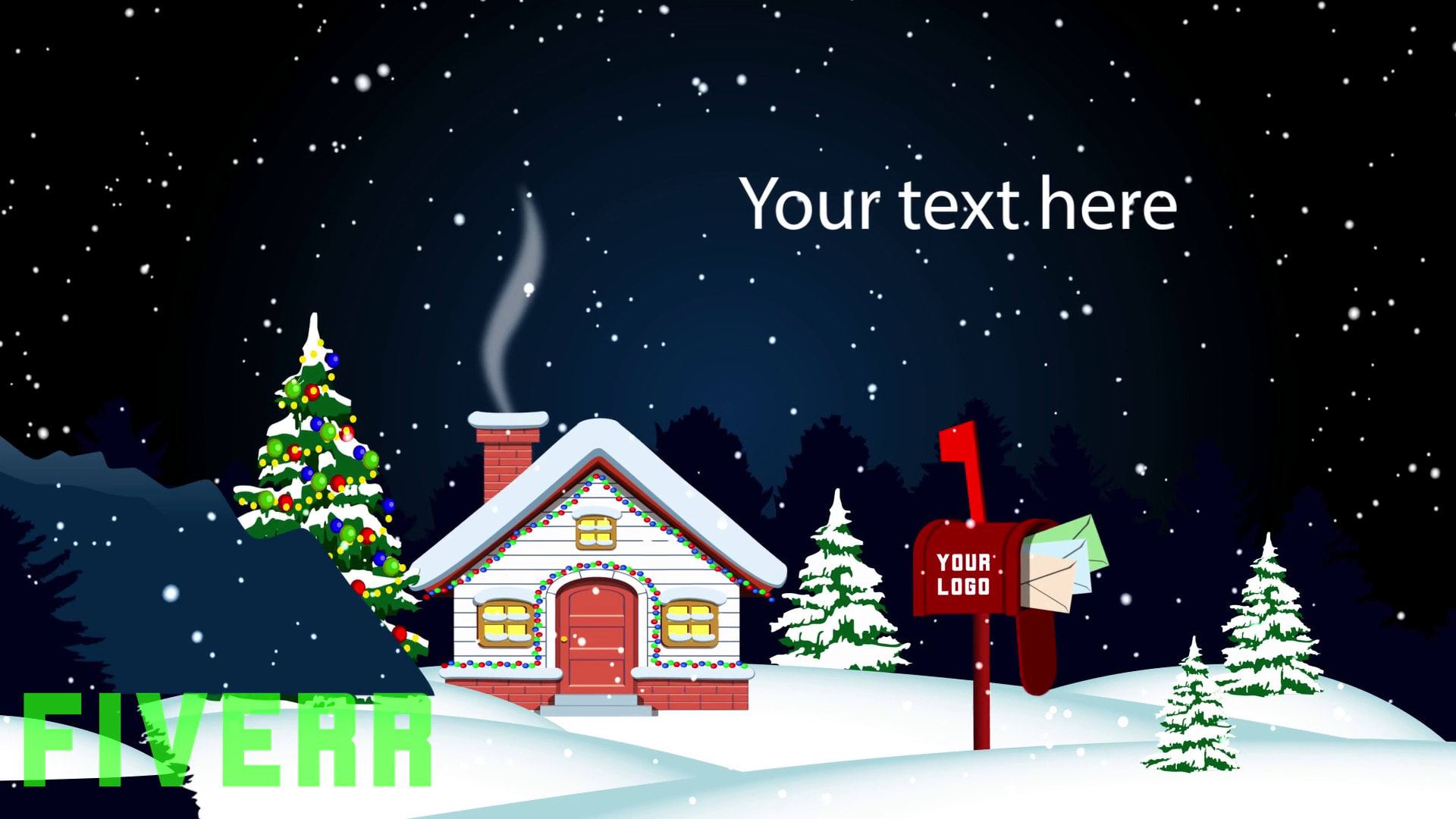 Do merry christmas and happy new year greeting video by Animatedfast