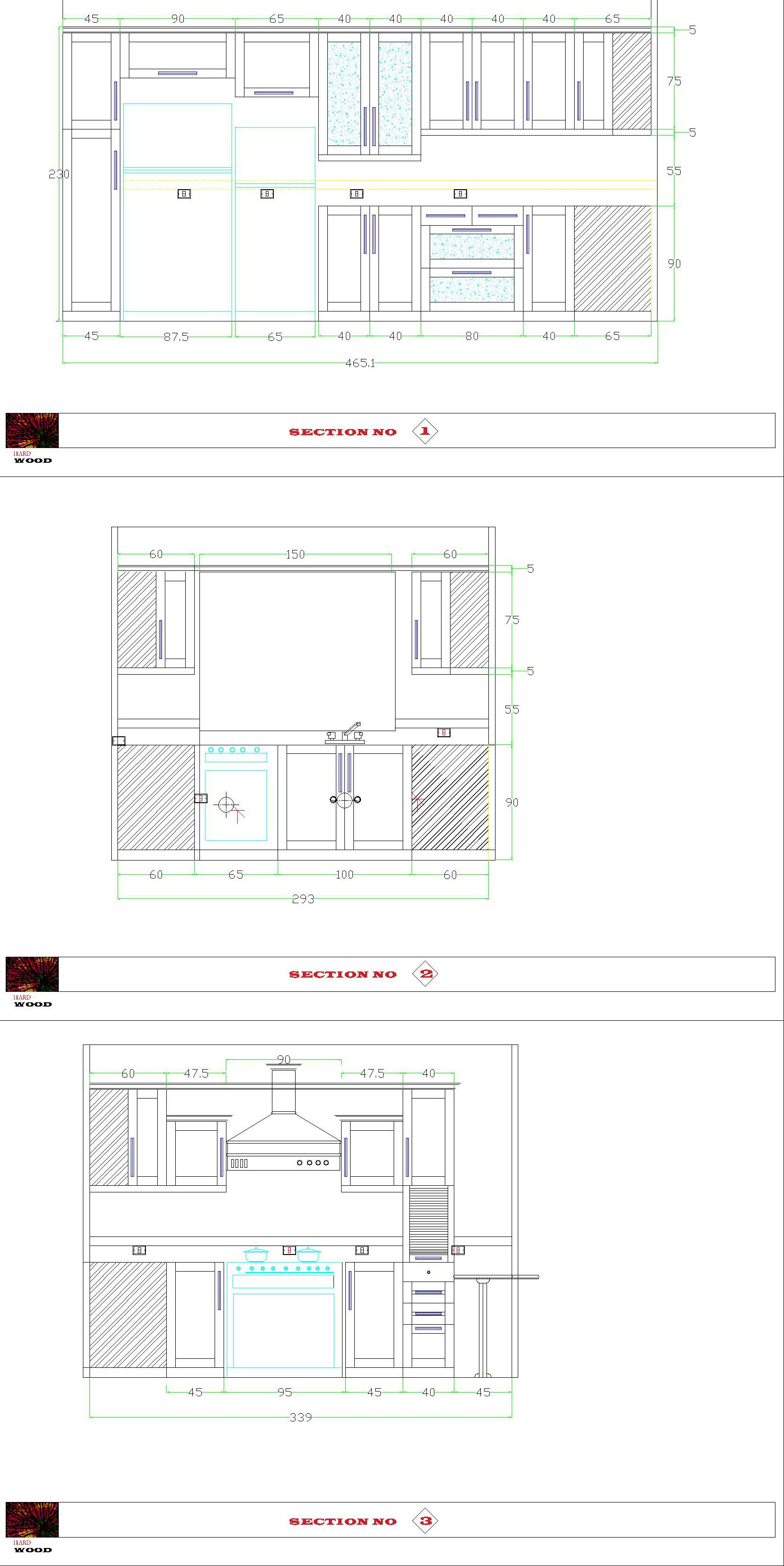 ... Draw Your Kitchen Cabinets Built In Furniture By Auto Cad By  Hardwood813 ...