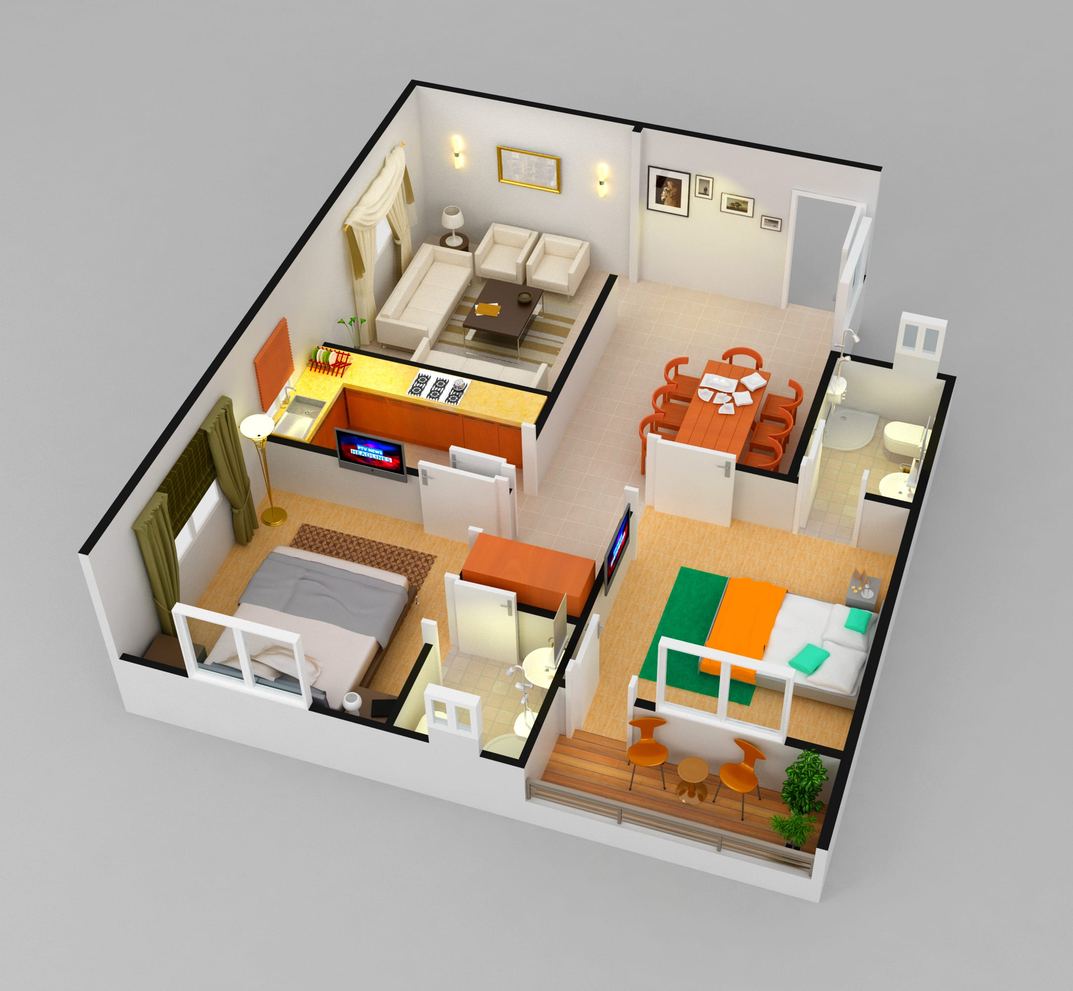Do 3d Floor Cutout Plans By Aqeelcad Fiverr