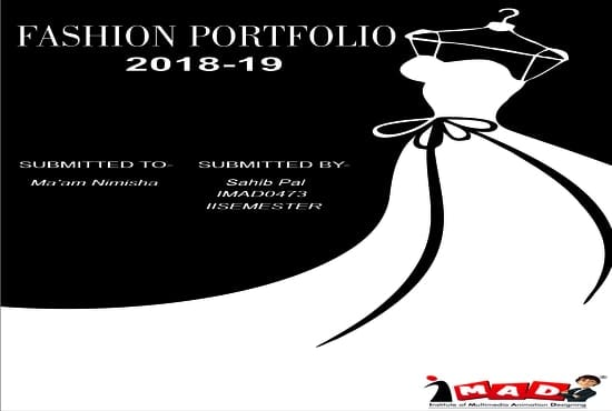 Design Cover Page For Your Portfolio By Dhirendra18