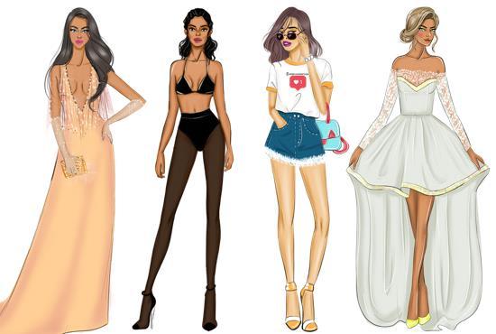 Draw A Fashion Illustration Or Sketch By Samiramakroum