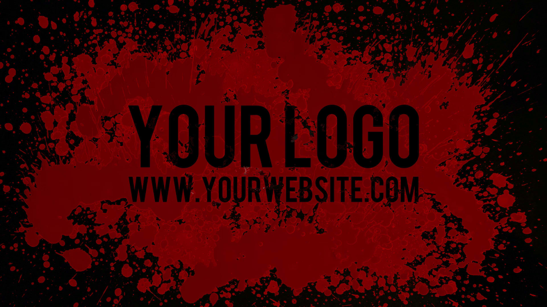 I Will Your Logo In A Blood Splatter Knife Horror Video Intro