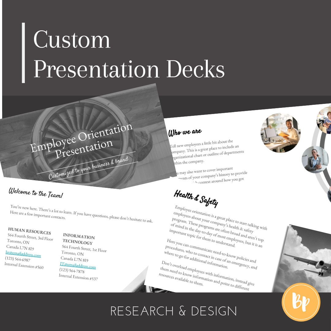 research and design your powerpoint presentation