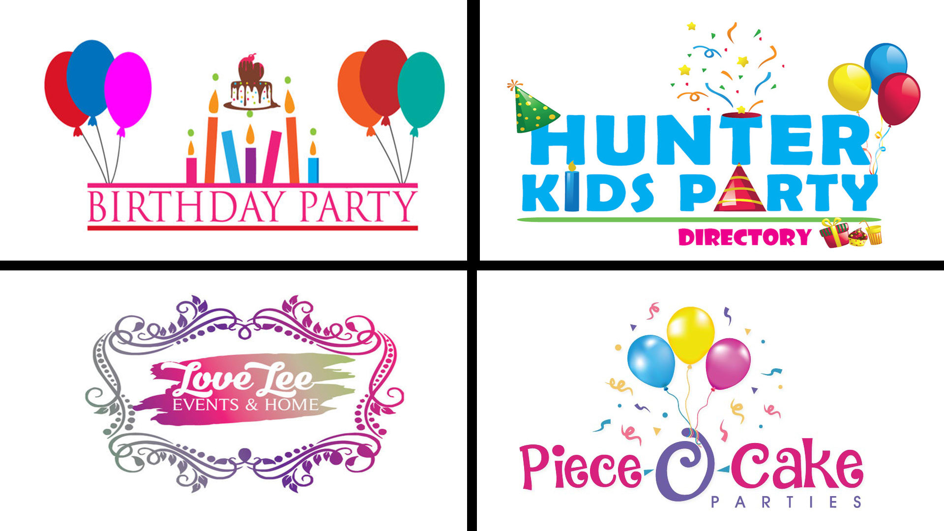 Make fine event birthday party logo design by Abubakardesigns
