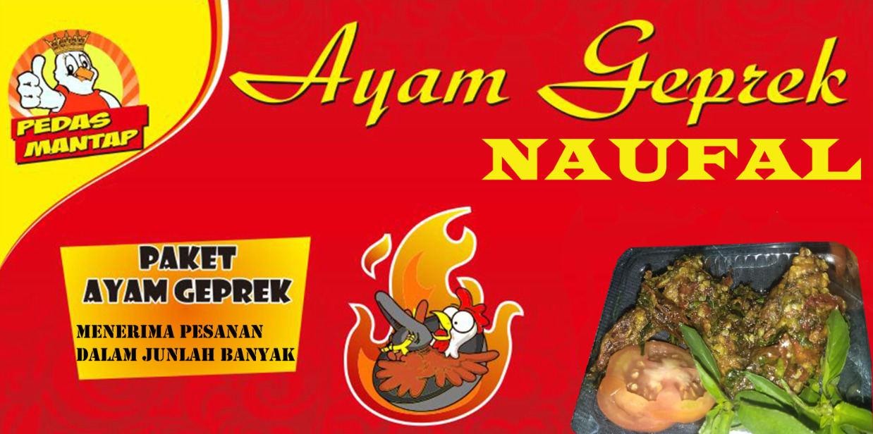 Desain Logo Banner Ayam Geprek - contoh desain spanduk