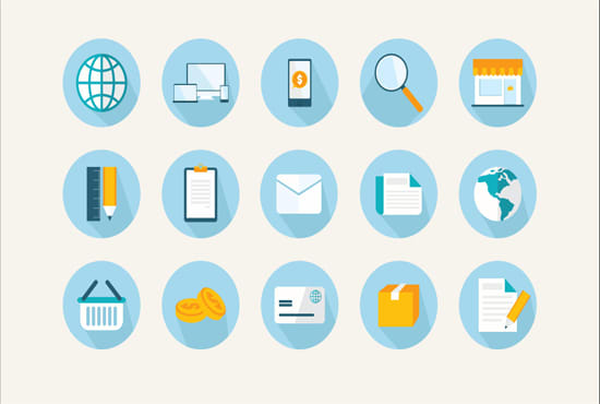 design web pc android and ios application icons and buttons