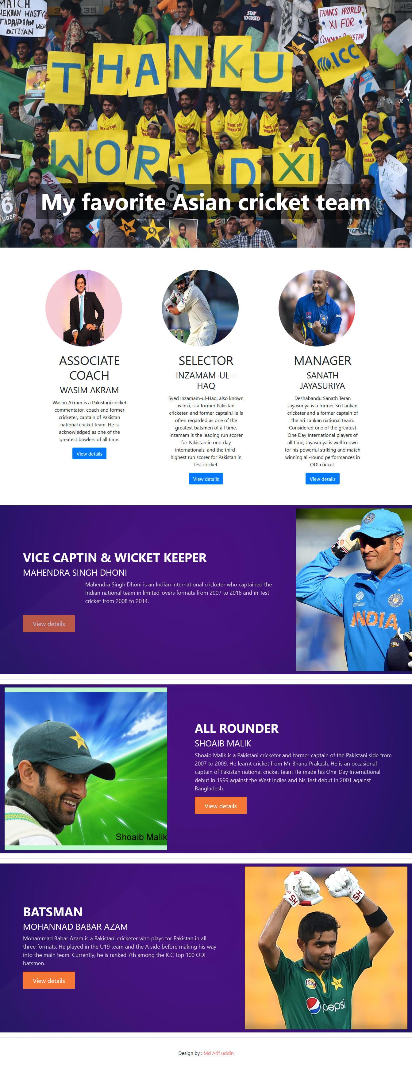 Create a pretty responsive website by Arifburuzu