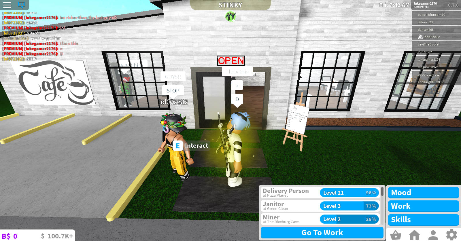 Has Any Game On Roblox Reached 100k Players Give You 100k In Bloxburg In Roblox By Yeetster2