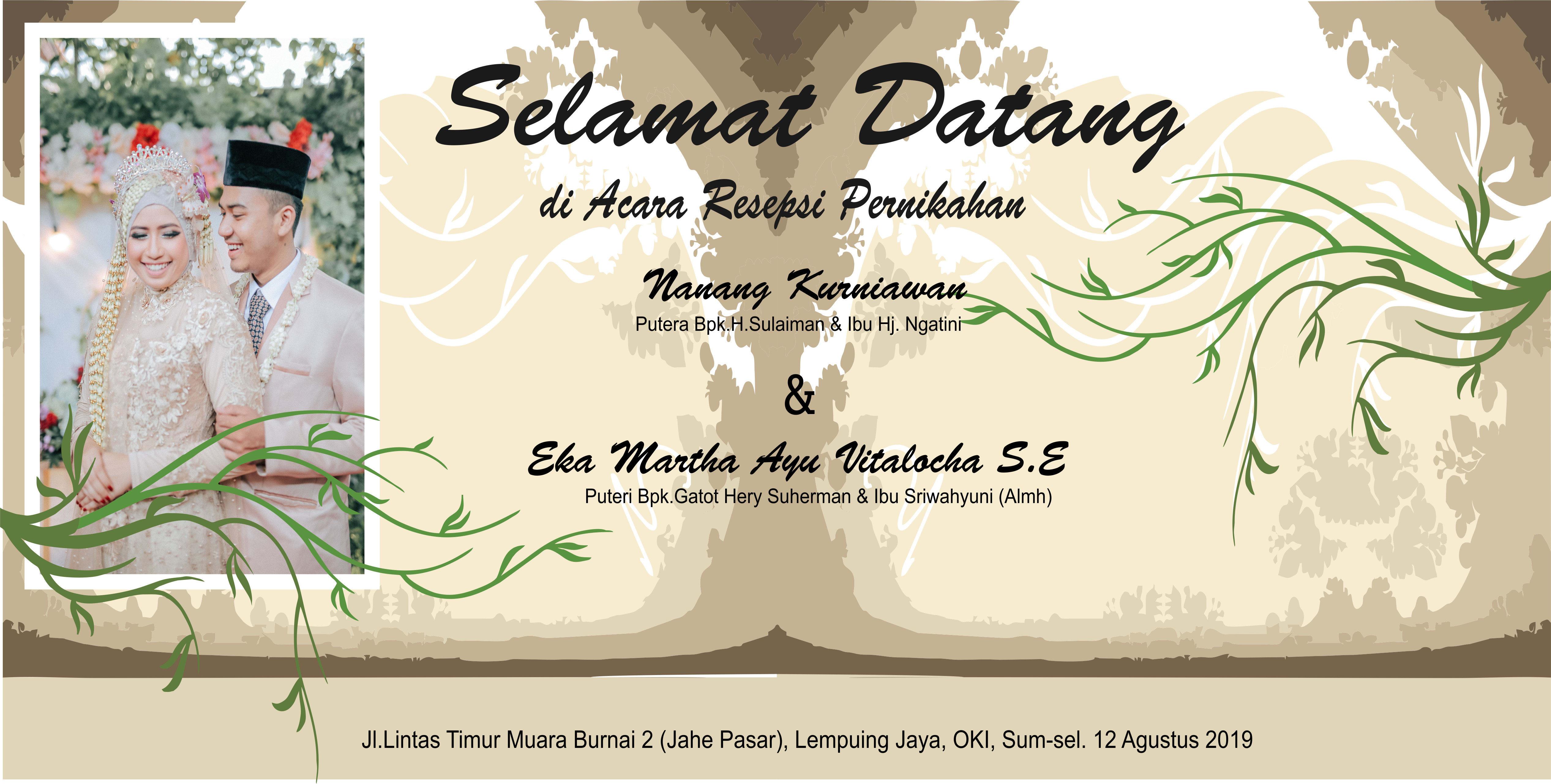 Banner Untuk Acara Pernikahan - desain spanduk keren