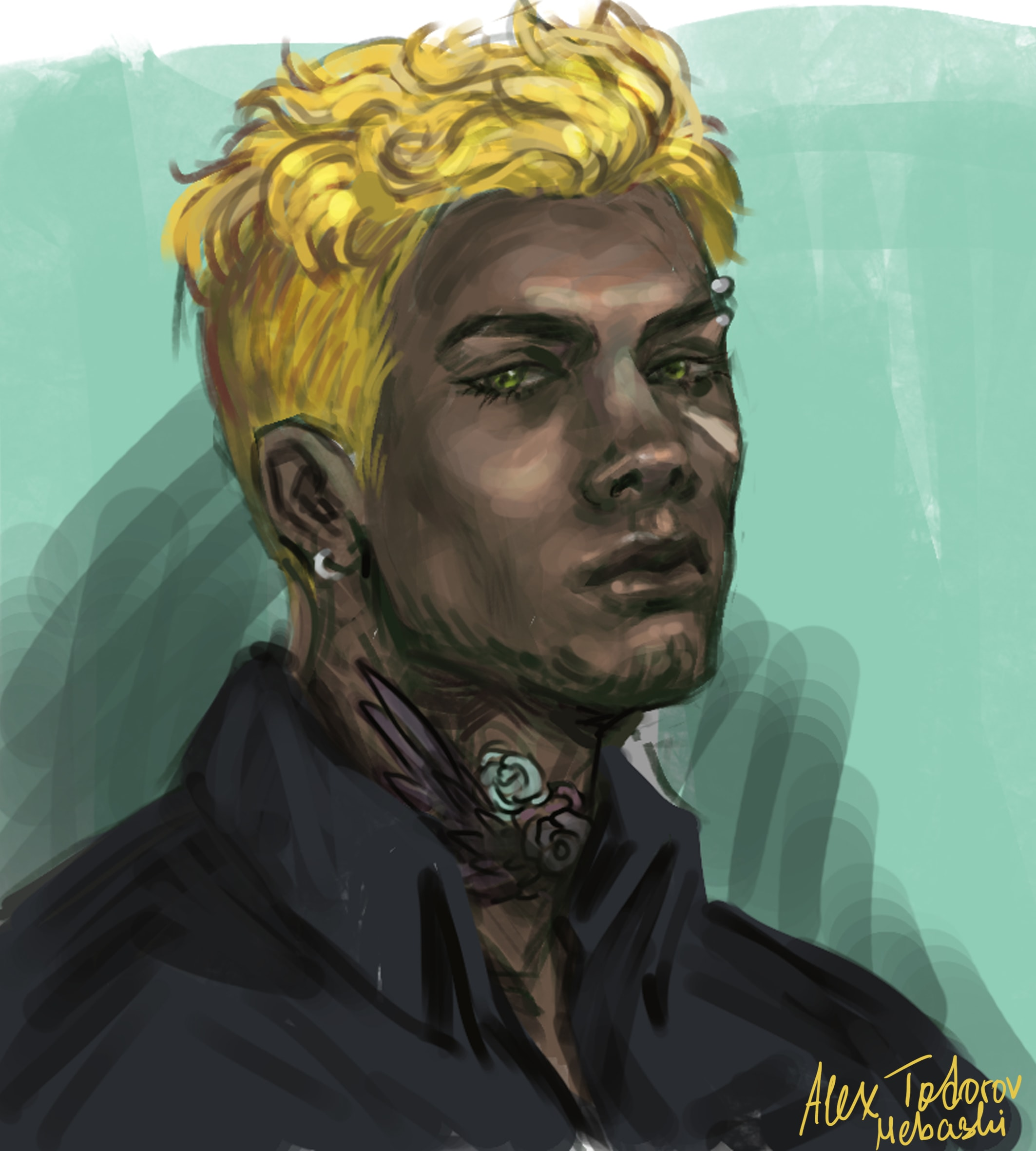 Digital Art Commission; Headshot of Character