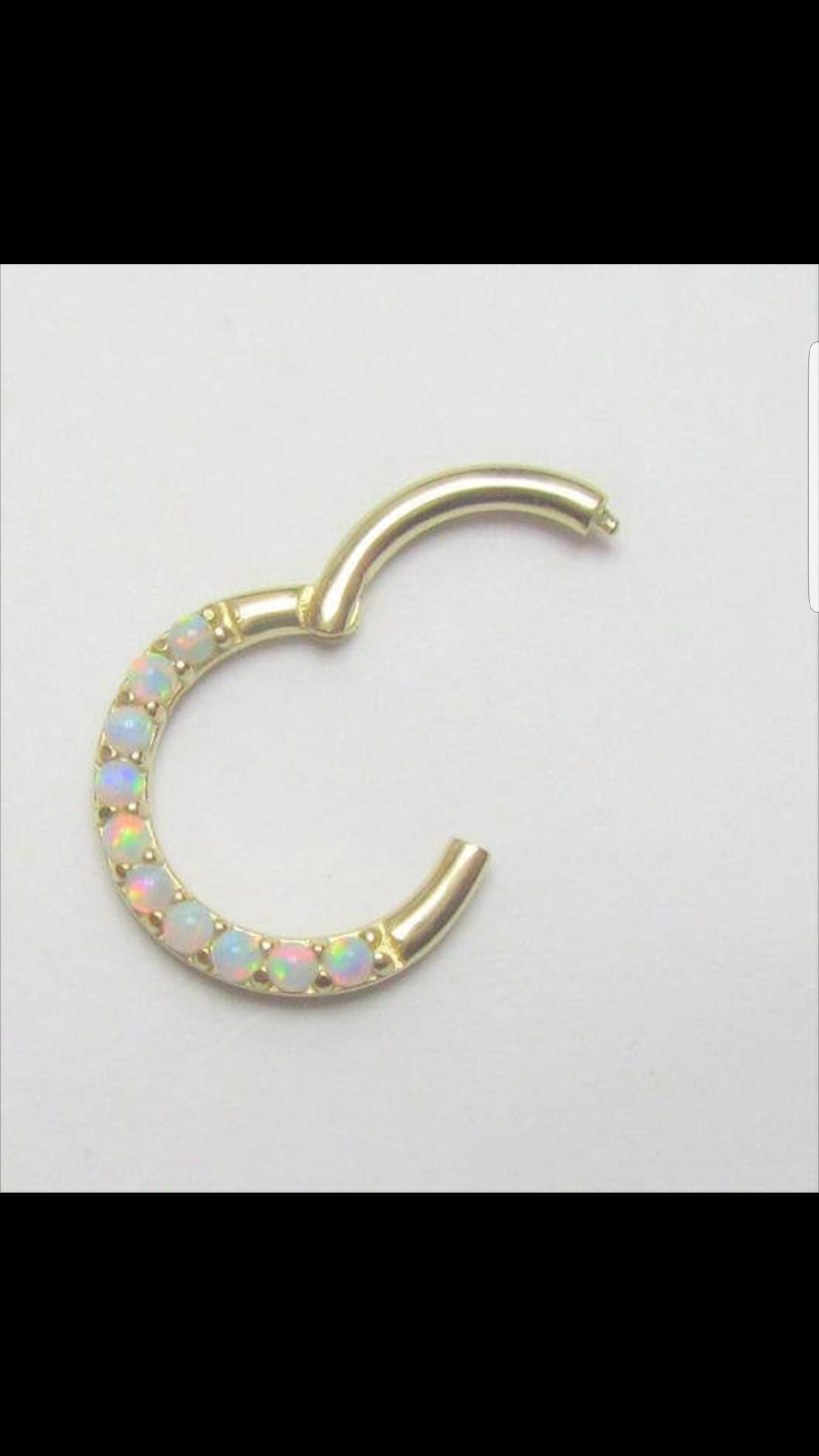 Send You A 14k Gold Hoop Ring With Opals By Lottopicker67