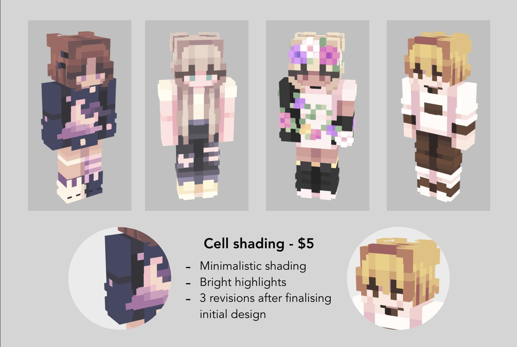 Design A Custom Professional Minecraft Skin For You By Redcadet
