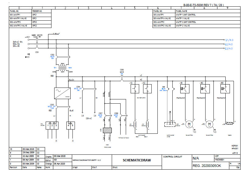 create a professional schematic diagram for your electrical