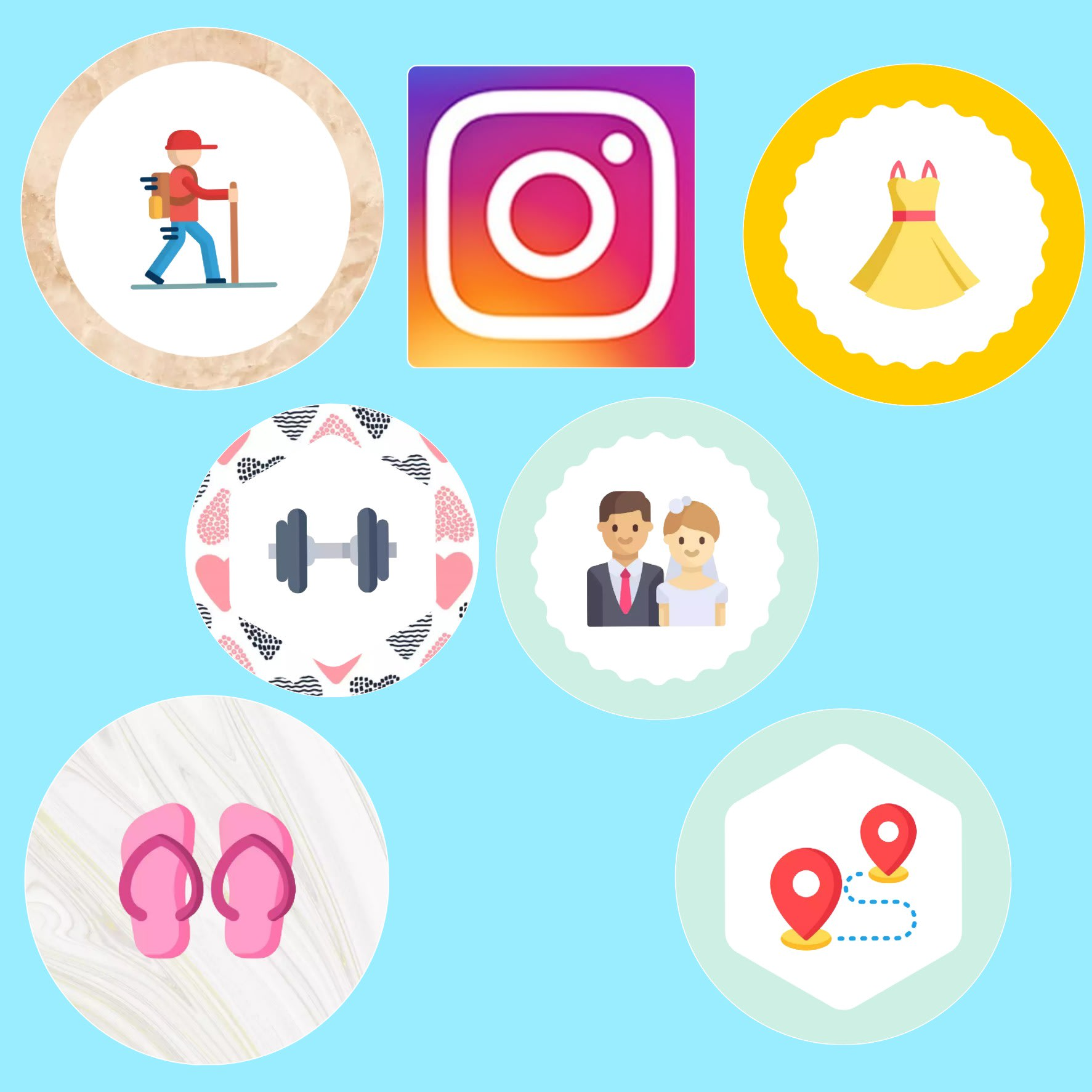 Create Instagram Highlight Cover Icons By Aarthilupie