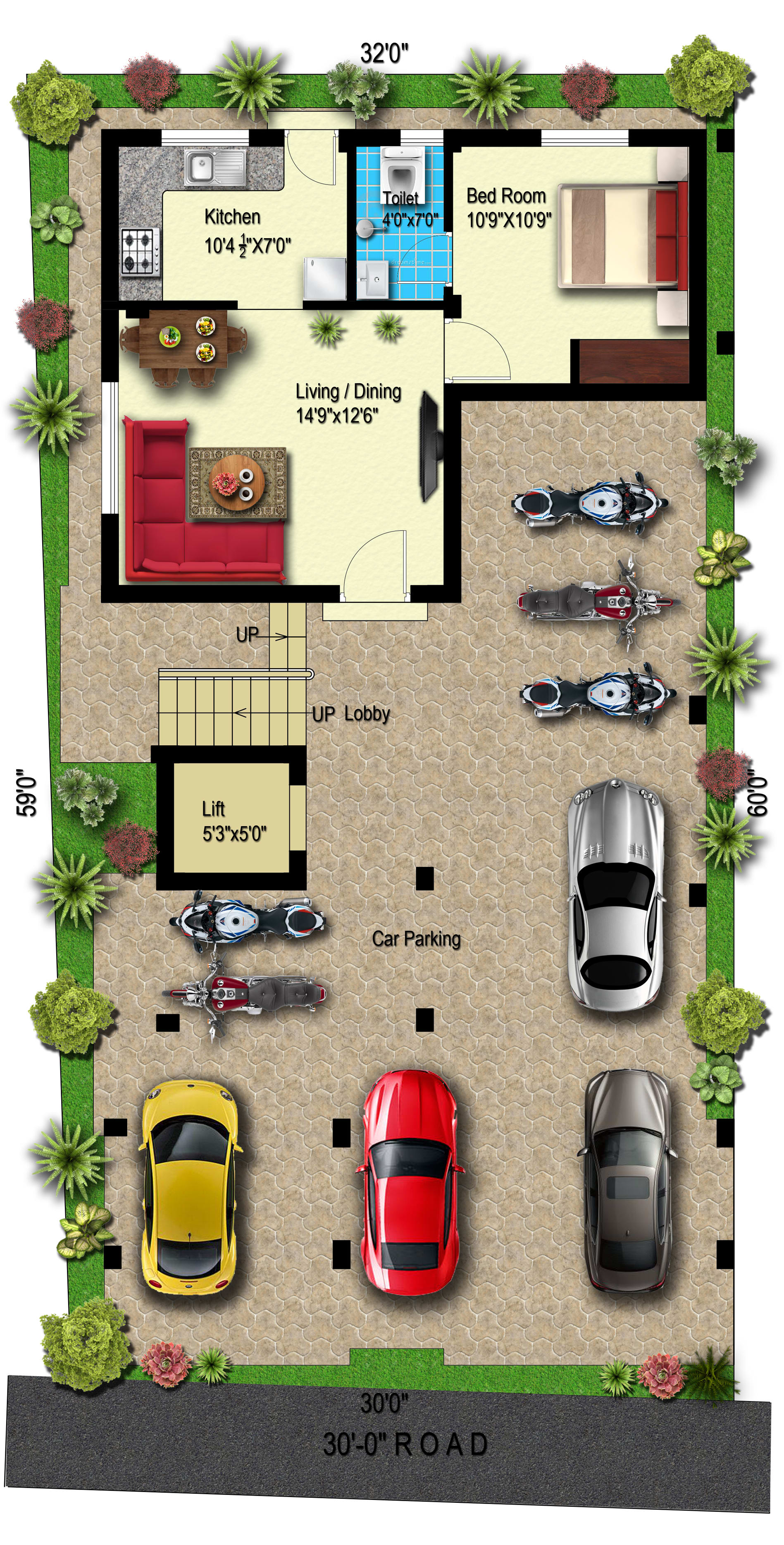 Draw Floor Plan Expert In 2d Plan With Material And Shading By Robin Asr Fiverr