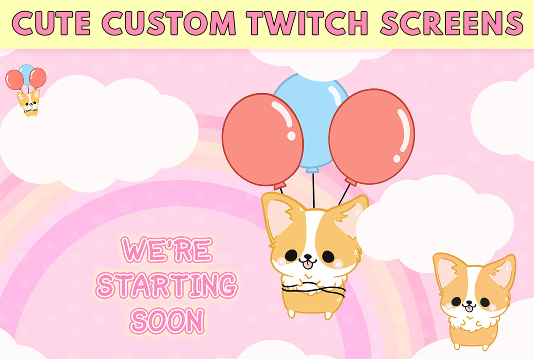 Create A Cute Customized Twitch Overlay For Your Stream By Streamergraphic