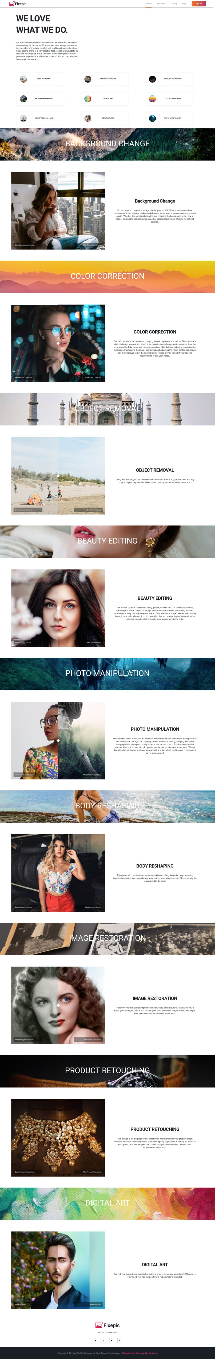 Do Professional Looking Responsive Website Development Using Html And Css By Vnithin