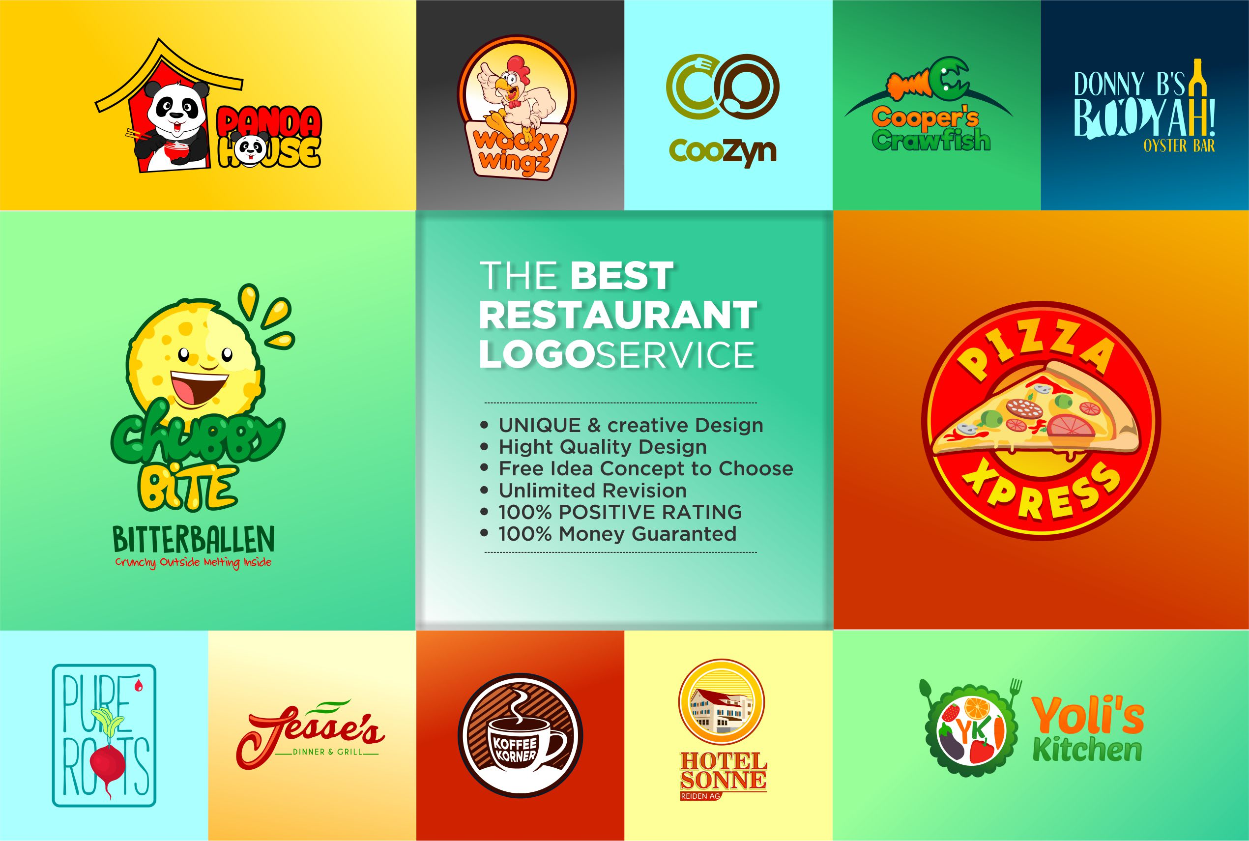 Make Unique Restaurant Logo By Crazylogoz