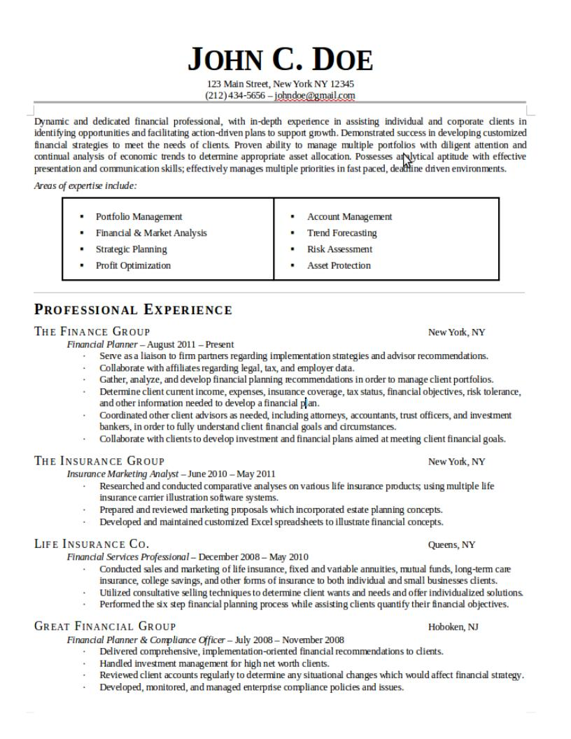 create or edit a professional resume