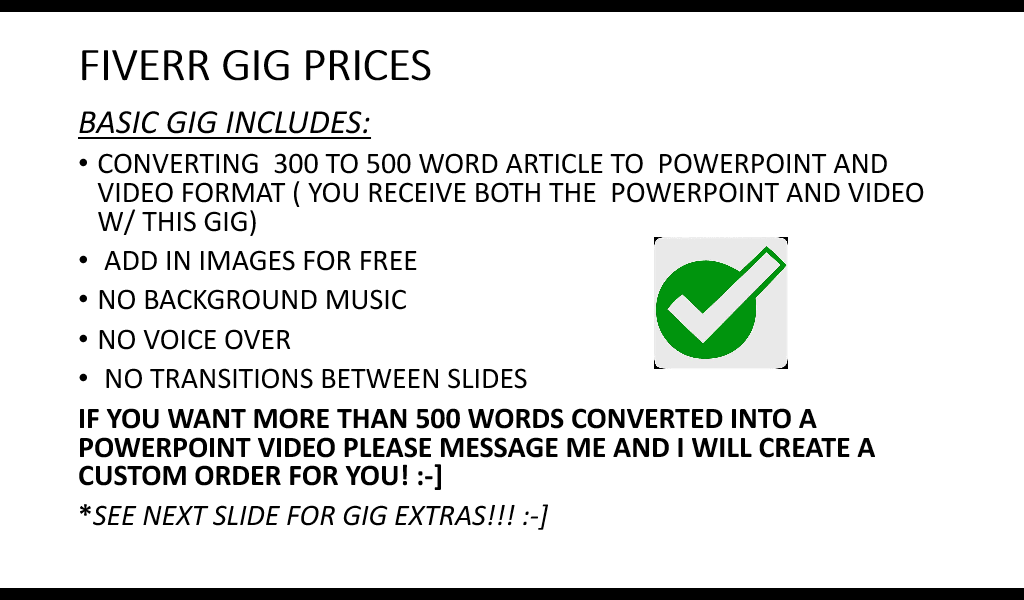 turn your 300 to 500 word article into powerpoint video