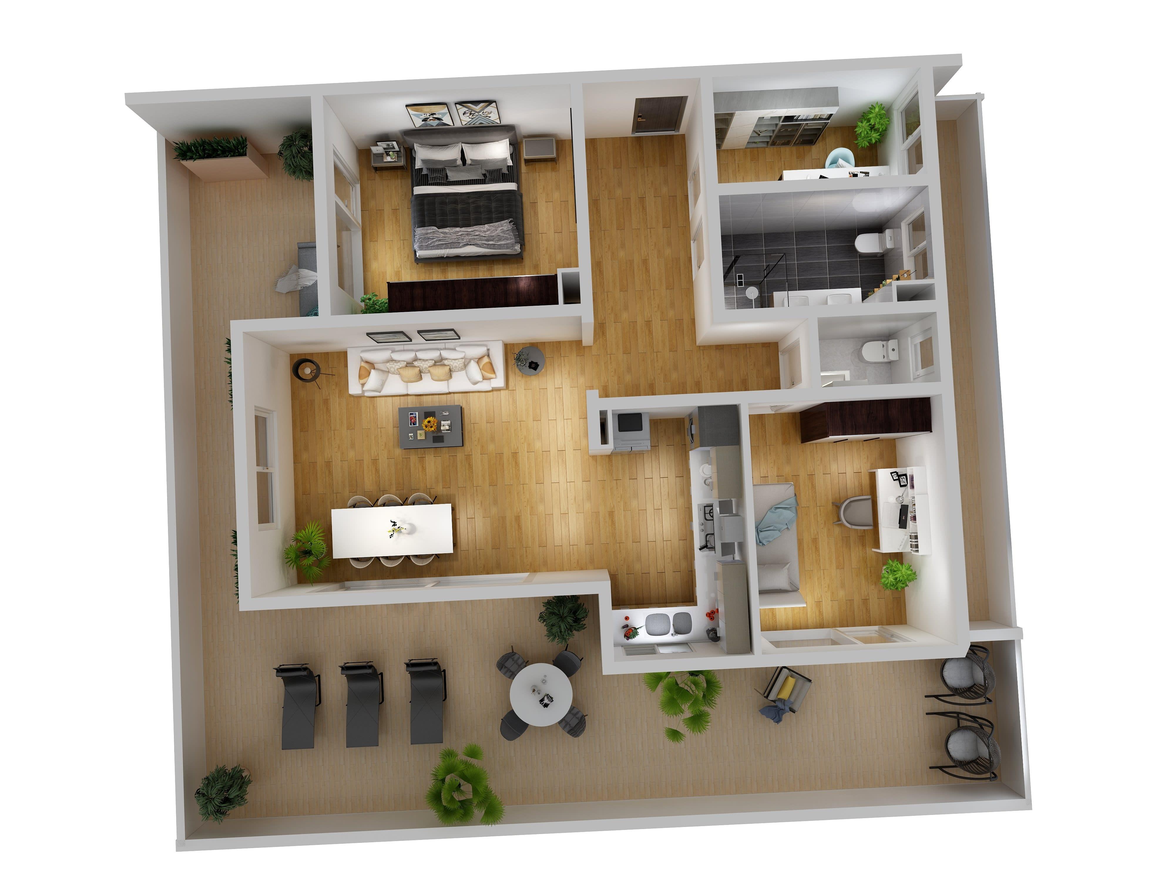 Create A 3d Walkthrough Animation From 2d Floor Plan By Geronimo17 Fiverr