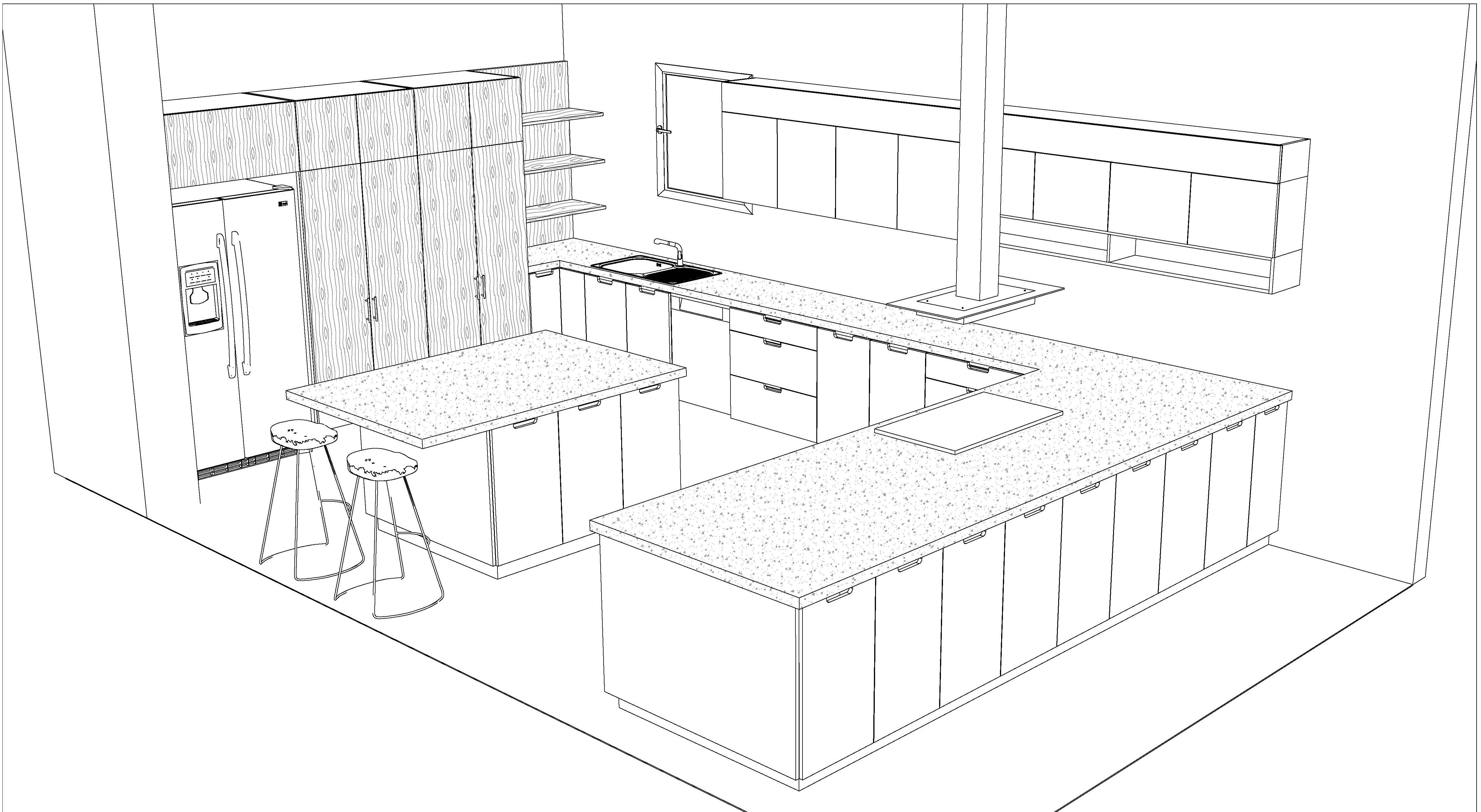 draw your kitchen sketches in autocad 2d 3d by ehabmagdy Autodesk 3D Designs