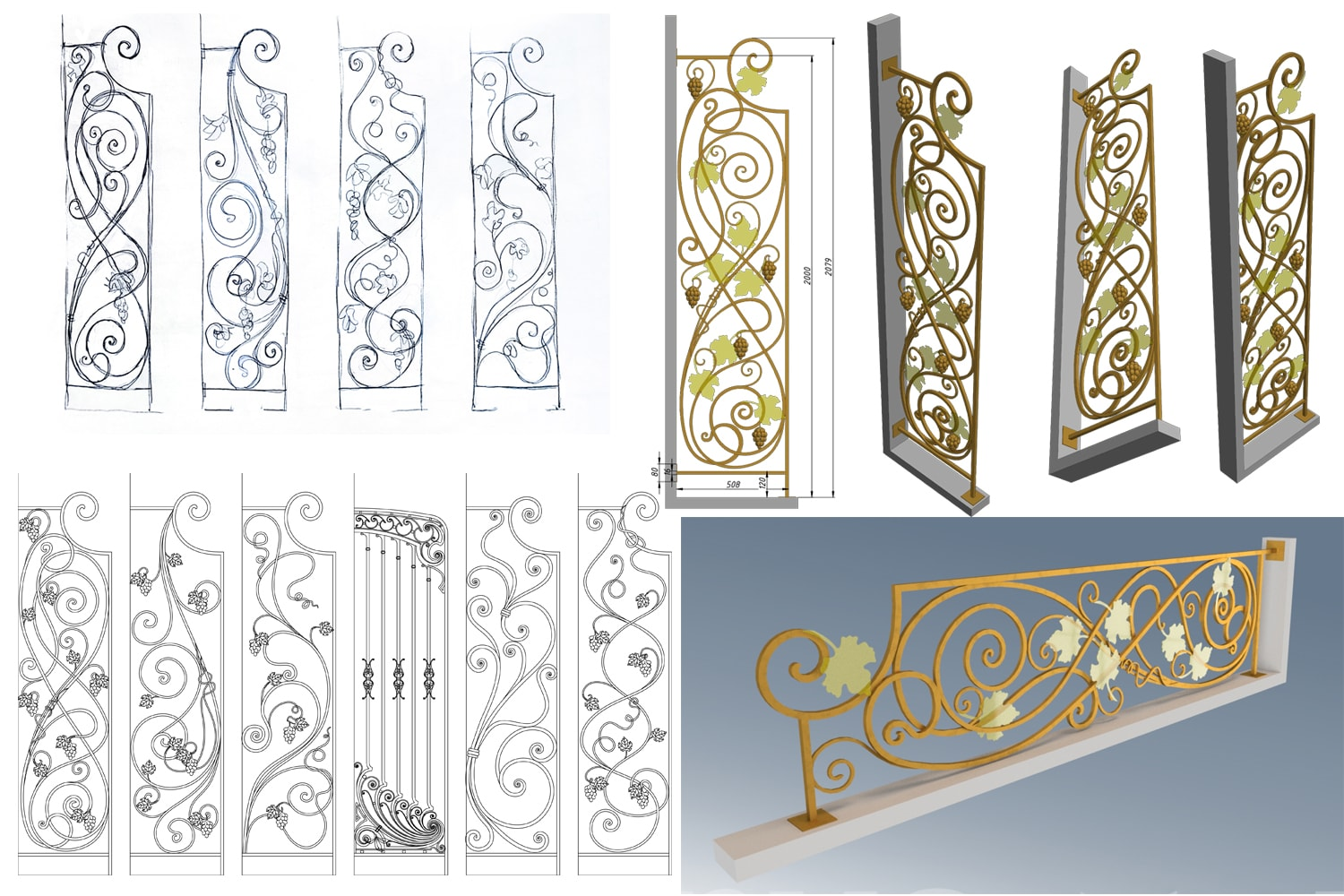 Make Wrought Iron Design Of Your Balcony Or Stair Fence By Deviktorya