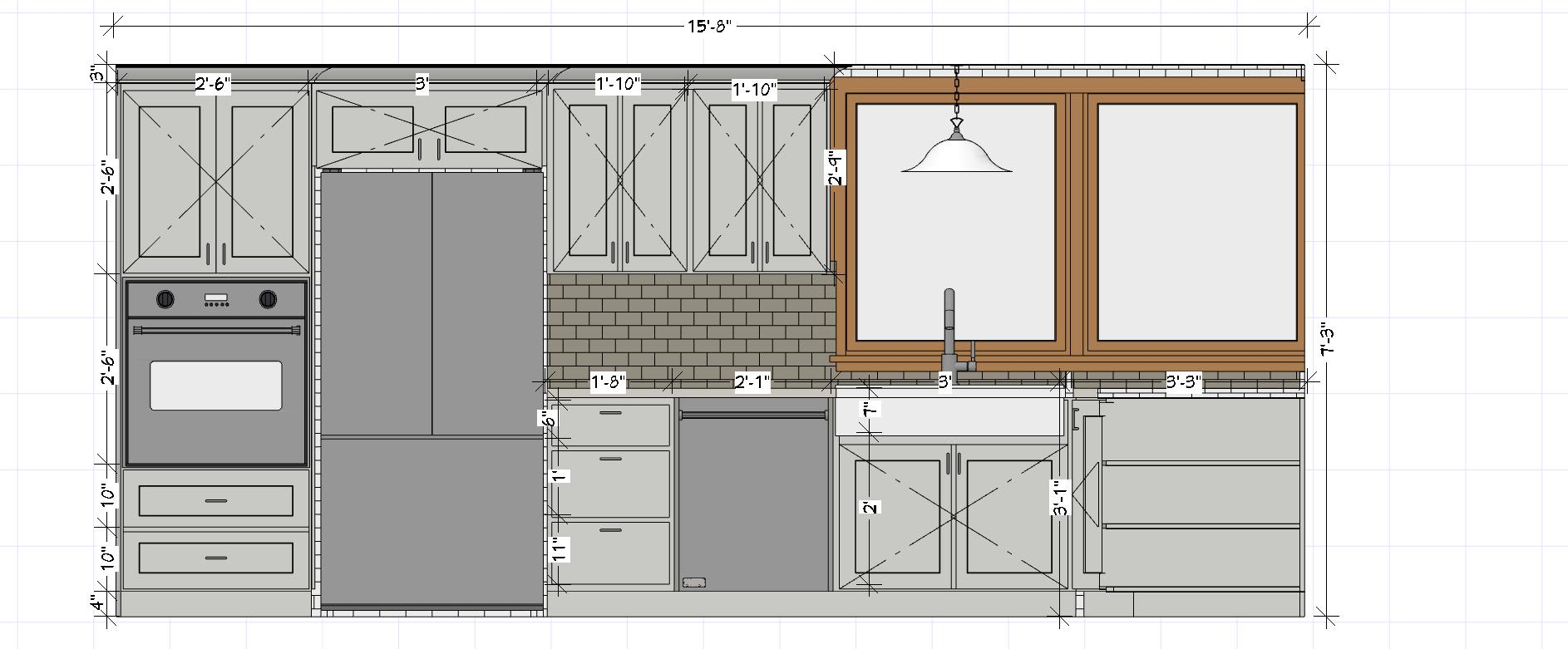 Design Kitchen Cabinets Layout And 3d By Durdanapami