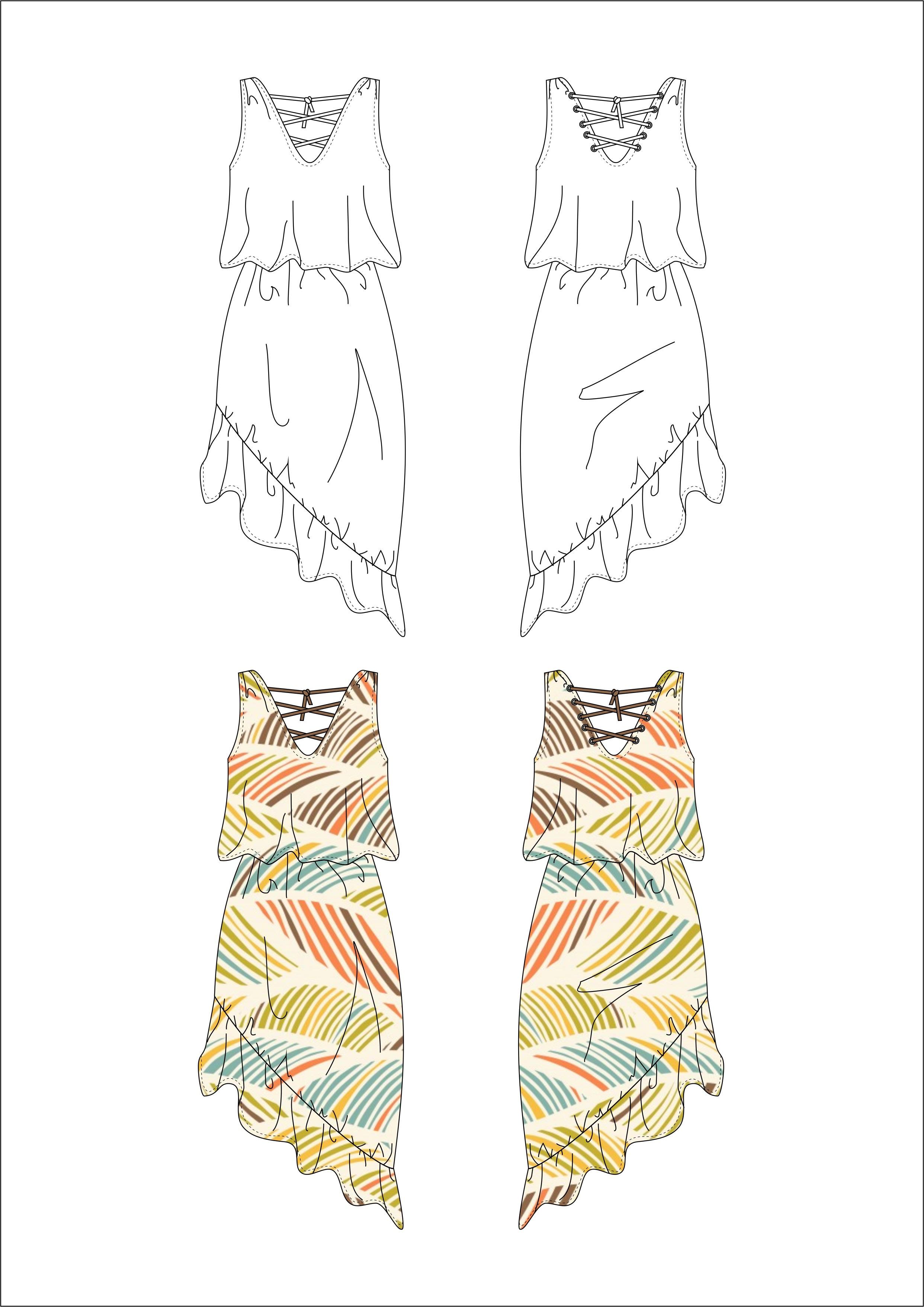Draw Fashion Flat In Coreldraw By Kamilasztobryn