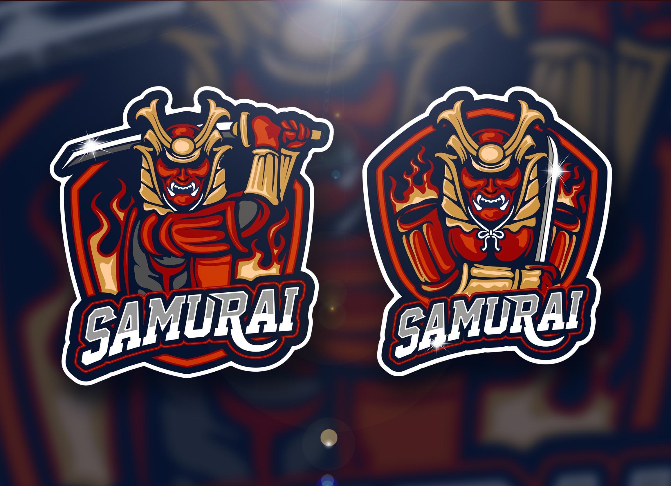 Samurai Mascot Creative Cool Logo Sports Www Galleryneed Com