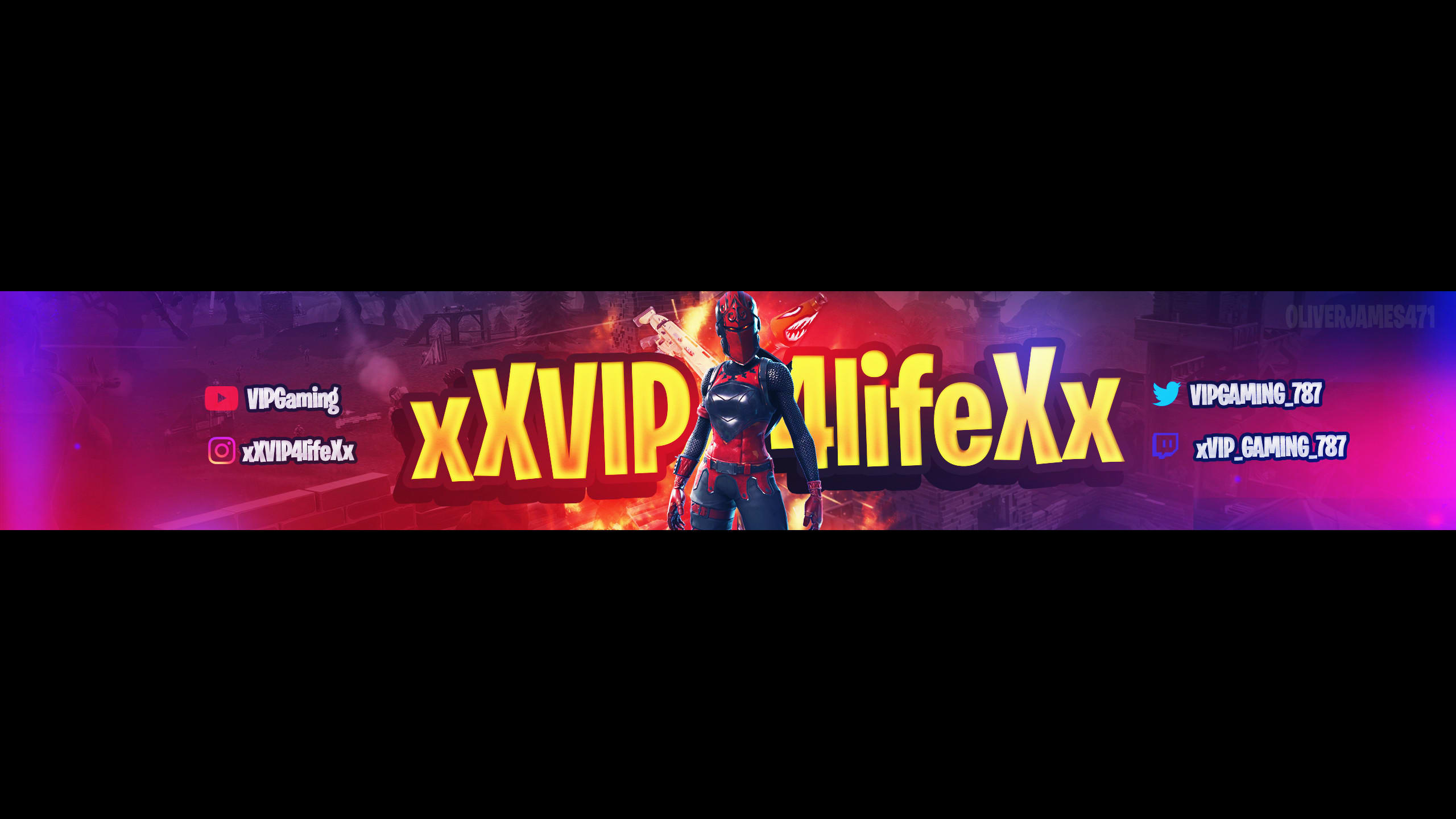 Design A Fortnite Youtube Banner By Olivervisuals