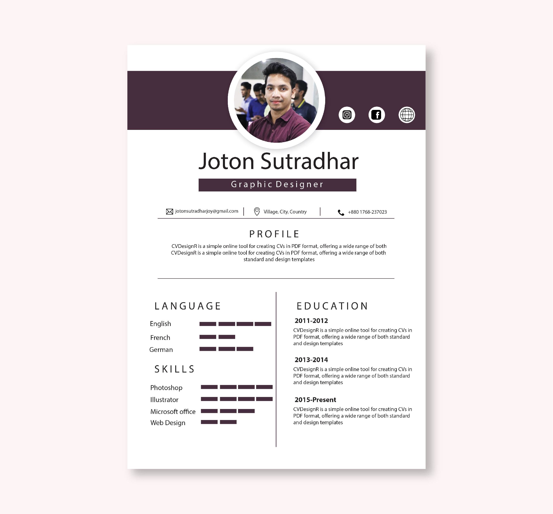 Write Edit And Design A Professional Cv Resume Or Portfolio