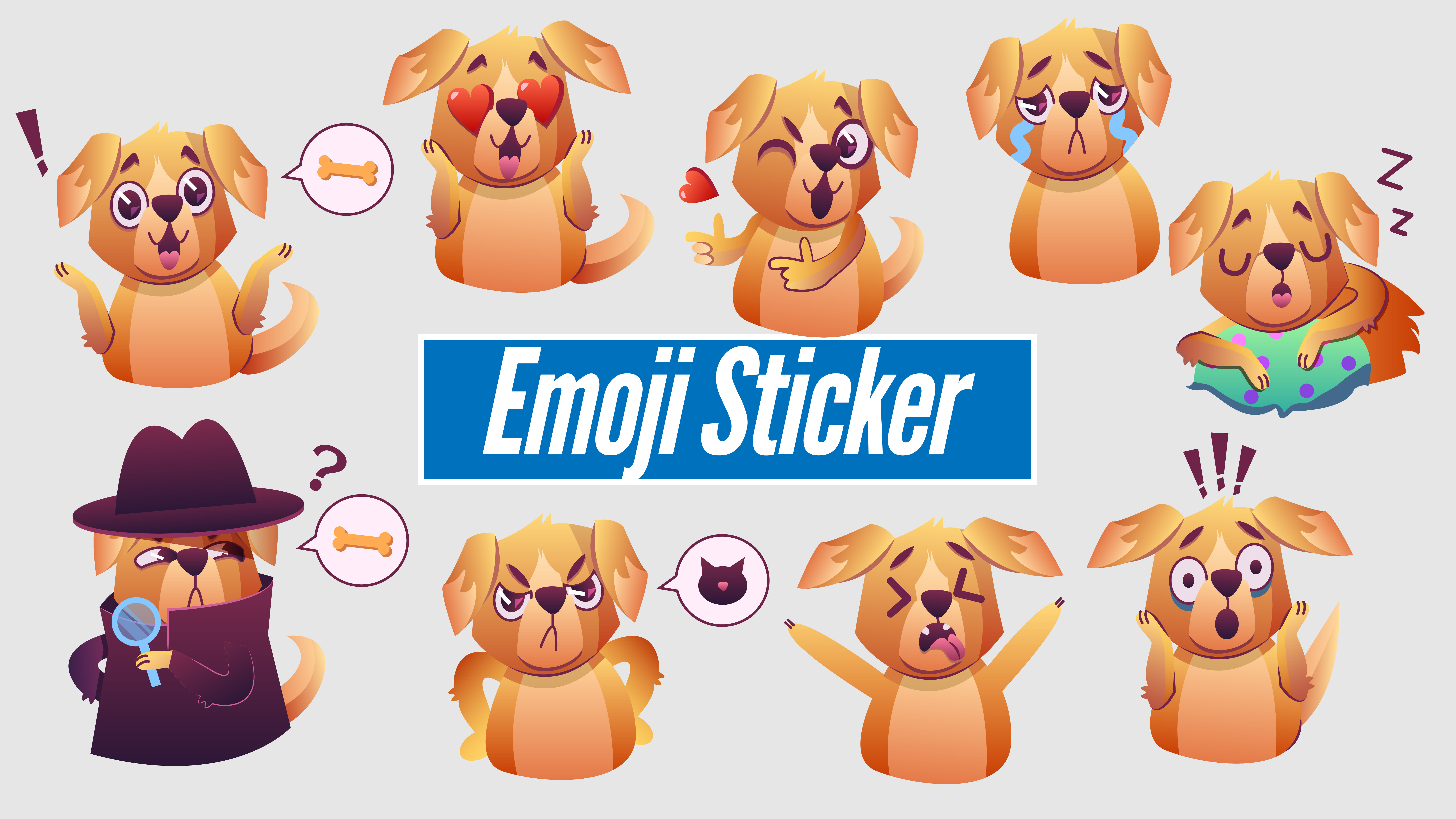 Draw custom emoji chat stickers or any emoticons by love arts