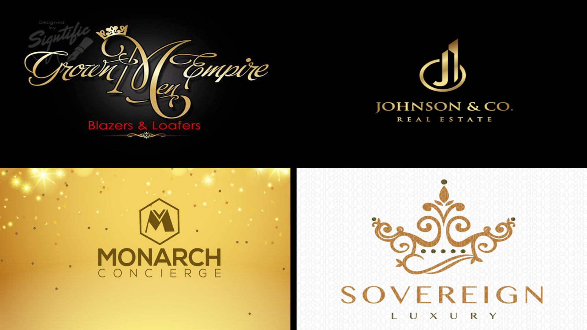 Do modern elegant and luxury brand logo design by Brandzstudio
