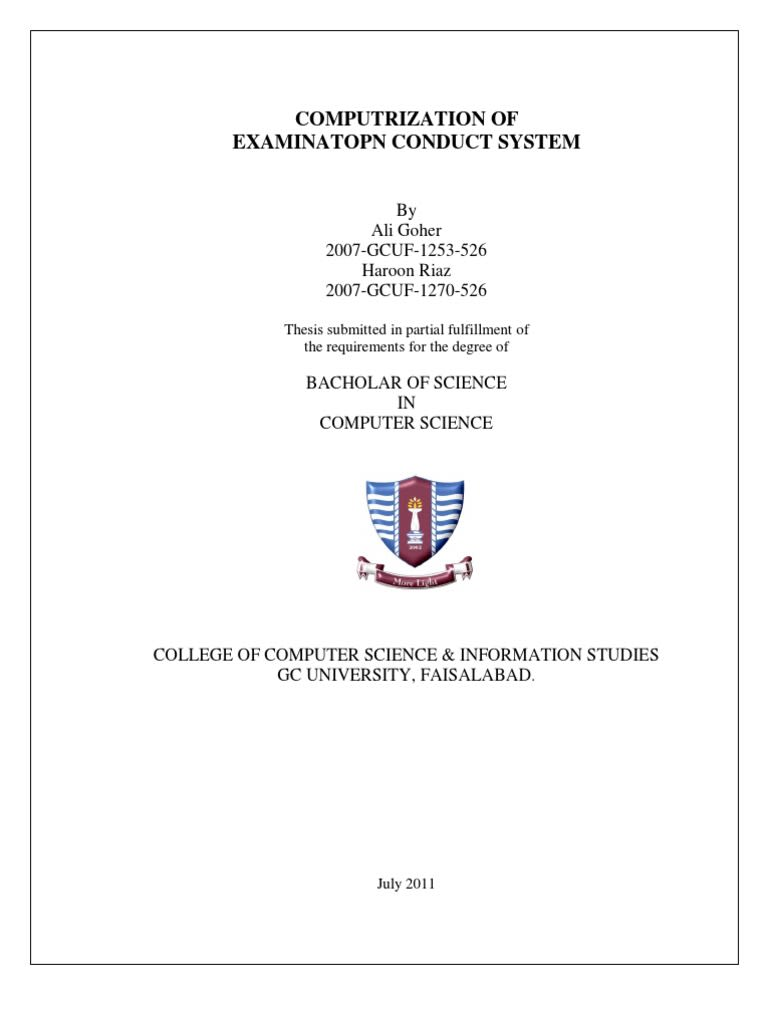 thesis of gcuf