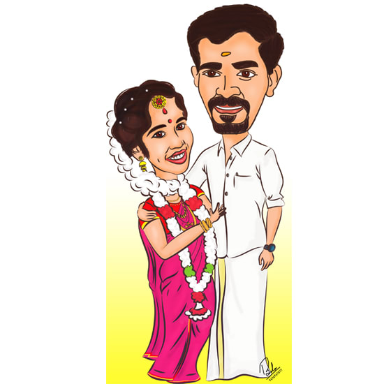 Make Your Lovely Couple Cartoon By Balakrishnan701
